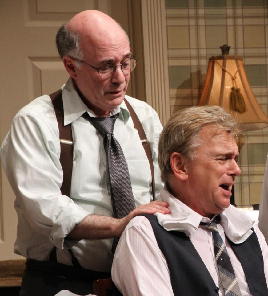 Dr. David Alan Stern with Pat Sajak in The Odd Couple, CT Rep Theater. (Photo: Gerry Goodstein)