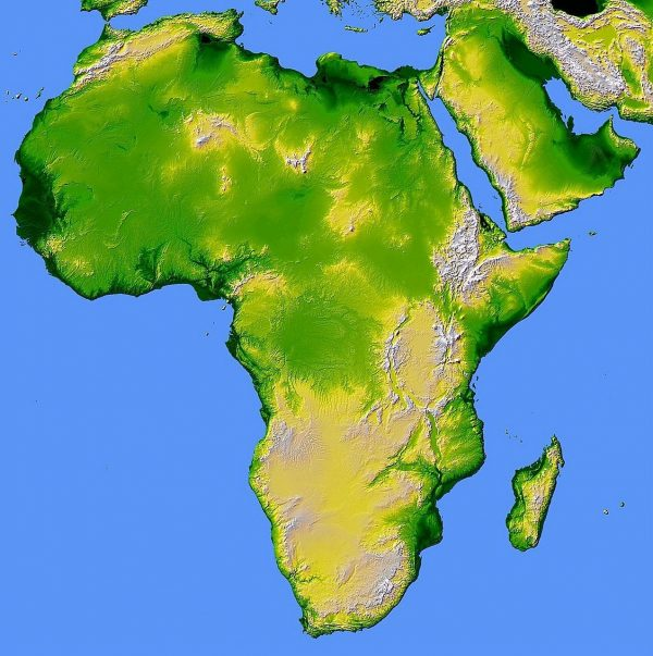 African/Caribbean : Map of Africa