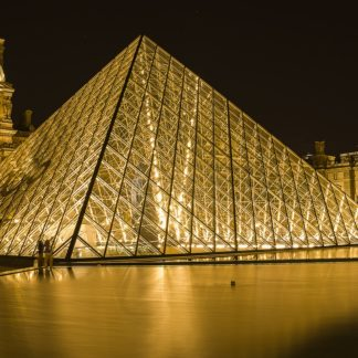 French Museum-Louvre Pyramid in Paris