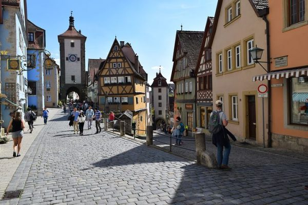 German Village Street Scene
