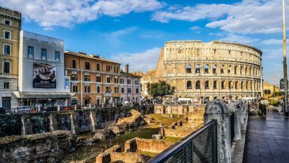 Italian Ruin-Interior of Roman Coliseum