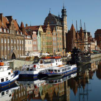Polish Street-side Port with Boats
