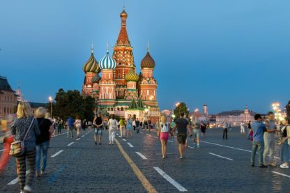 Russian view of St. Basil's Cathedral, Red Square